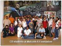CD students at Malcolm X Foundation